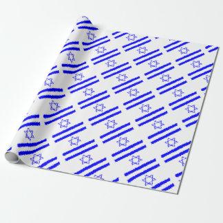 Papel De Presente País do azul de Israel das bandeiras