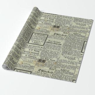 Papel De Presente Papel alemão do presente do jornal do vintage