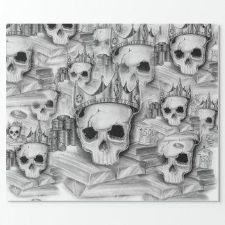 Papel De Presente Papel de Embrulho, Rolo 76cm x 180 cm caveira