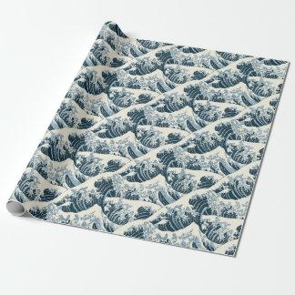 Papel De Presente Papel de envolvimento - a onda por Hokusai