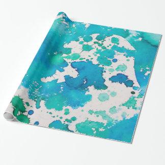 Papel De Presente papel de envolvimento abstrato do verde azul