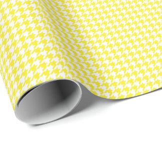 Papel De Presente Papel de envolvimento amarelo e branco pequeno de