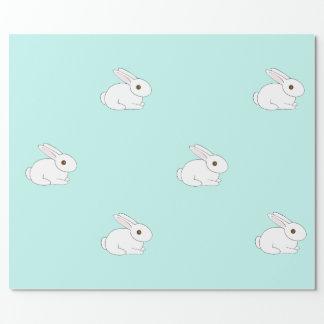 Papel De Presente Papel de envolvimento branco do coelho