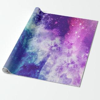 Papel De Presente Papel de envolvimento colorido da galáxia