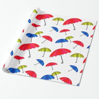Papel De Presente Papel de envolvimento colorido do guarda-chuva