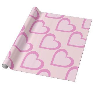 Papel De Presente Papel de envolvimento cor-de-rosa bonito do