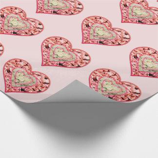 Papel De Presente Papel de envolvimento cor-de-rosa das flores do