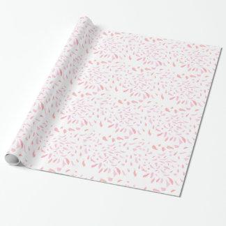 Papel De Presente Papel de envolvimento cor-de-rosa de flutuação das