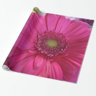 Papel De Presente Papel de envolvimento cor-de-rosa do buquê da flor