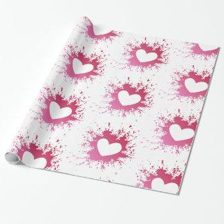 Papel De Presente Papel de envolvimento cor-de-rosa do dia dos