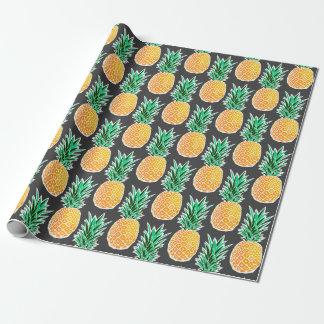Papel De Presente Papel de envolvimento corajoso do abacaxi