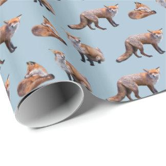 Papel De Presente Papel de envolvimento da agitação do Fox vermelho