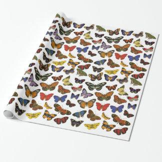Papel De Presente Papel de envolvimento da borboleta