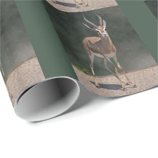 Papel De Presente Papel de envolvimento da gazela de Dorcas