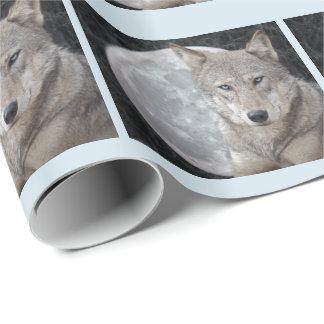 Papel De Presente Papel de envolvimento da lua do lobo