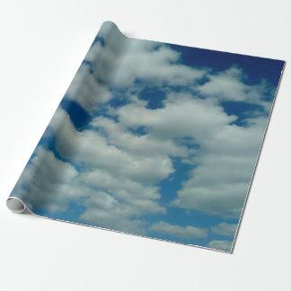 Papel De Presente Papel de envolvimento da nuvem