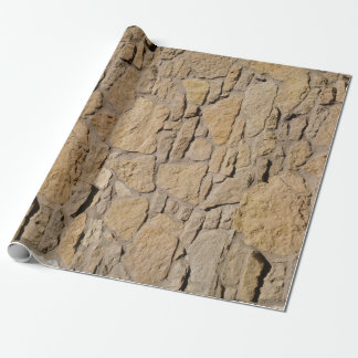 Papel De Presente Papel de envolvimento da parede de pedra de Tan