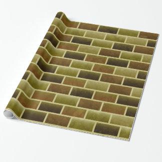 Papel De Presente Papel de envolvimento da parede de tijolo do