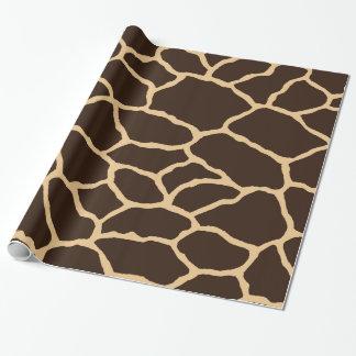 Papel De Presente Papel de envolvimento da pele | do girafa