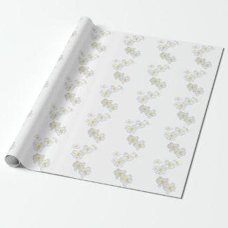 Papel De Presente Papel de envolvimento das flores brancas