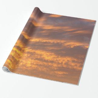 Papel De Presente Papel de envolvimento das nuvens do por do sol