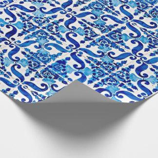 Papel De Presente Papel de envolvimento de Azulejo do português