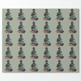 Papel De Presente Papel de envolvimento de Buddha de pedra preciosa
