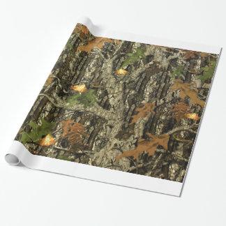 Papel De Presente Papel de envolvimento de Camo da caça