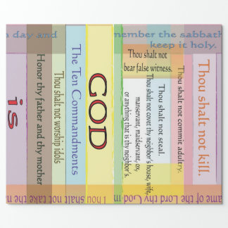 Papel De Presente Papel de envolvimento de dez mandamentos