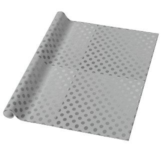 Papel De Presente Papel de envolvimento de linho de prata