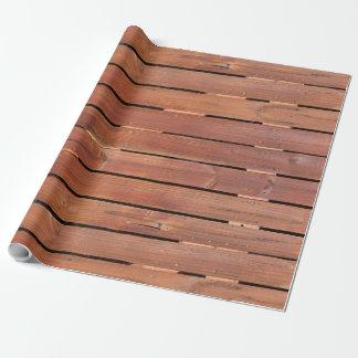 Papel De Presente Papel de envolvimento de madeira da caixa