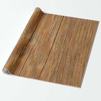 Papel De Presente Papel de envolvimento de madeira da grão