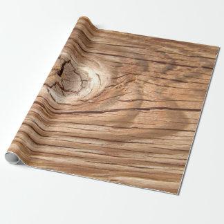 Papel De Presente Papel de envolvimento de madeira de Knothole da