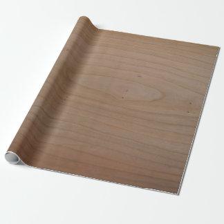 Papel De Presente Papel de envolvimento de madeira do impressão da