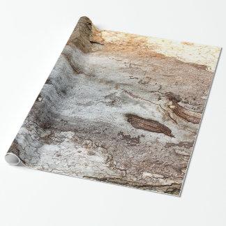 Papel De Presente Papel de envolvimento de madeira do latido da