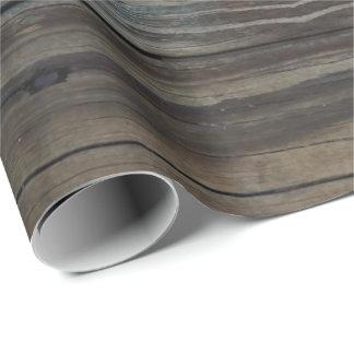 Papel De Presente Papel de envolvimento de madeira molhado da