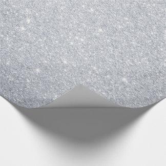 Papel De Presente Papel de envolvimento de prata do brilho