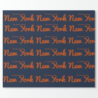 Papel De Presente Papel de envolvimento de Siracusa, New York