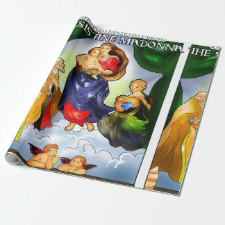 Papel De Presente Papel de envolvimento de Sistine Madonna