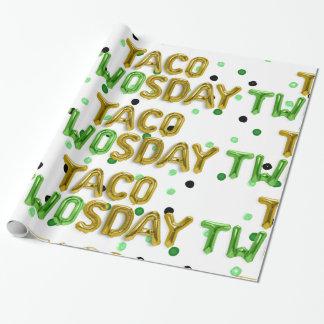 Papel De Presente Papel de envolvimento de TWOsday do Taco