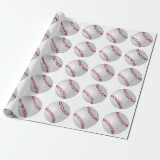 Papel De Presente Papel de envolvimento do basebol do tema dos