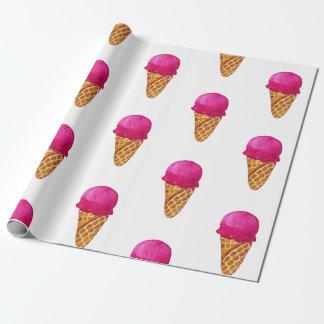Papel De Presente Papel de envolvimento do cone do sorvete da