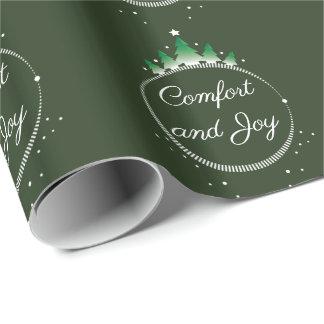 Papel De Presente Papel de envolvimento do conforto e da alegria |