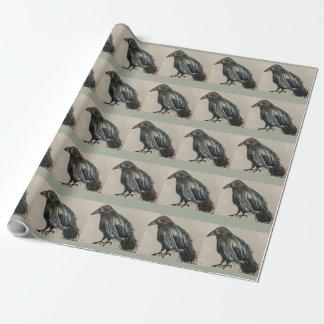 Papel De Presente Papel de envolvimento do corvo