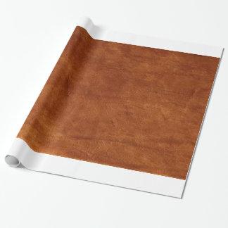 Papel De Presente Papel de envolvimento do couro de Brown