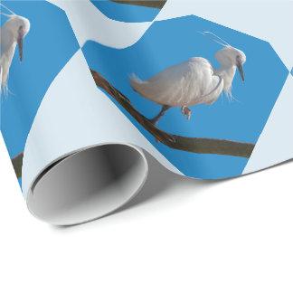 Papel De Presente Papel de envolvimento do Egret pequeno