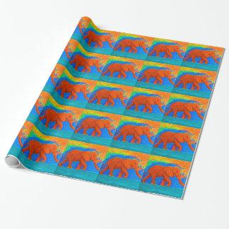 Papel De Presente Papel de envolvimento do elefante
