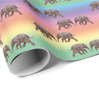 Papel De Presente Papel de envolvimento do elefante do bebê