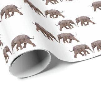 Papel De Presente Papel de envolvimento do elefante do bebê (escolha