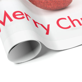 Papel De Presente Papel de envolvimento do Feliz Natal do Sheepdog